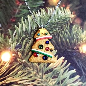 Christmas Tree Cookie Pendant Necklace 🎄